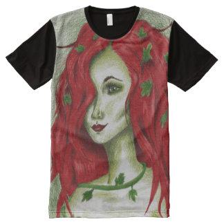 Ivy Nymph Redhead Woman Pixie Fantasy Art All-Over Print T-shirt