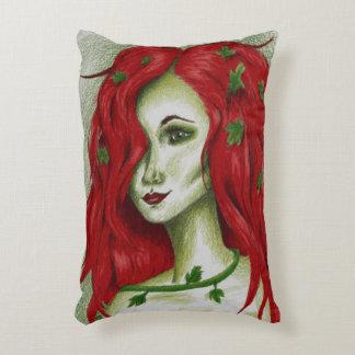 Ivy Nymph Redhead Woman Pixie Fantasy Art Decorative Pillow