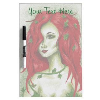 Ivy Nymph Redhead Woman Pixie Fantasy Dry-Erase Board