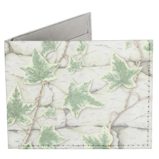 Ivy on a Dry Stone Wall in Coloured Pencil Wallet