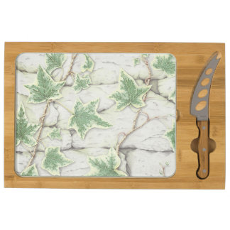 Ivy on a Dry Stone Wall in Pencil Cheese Board