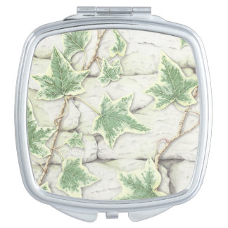 Ivy on a Dry Stone Wall in Pencil Compact Mirror
