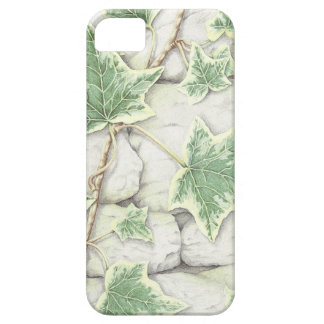 Ivy on a Dry Stone Wall in Pencil iPhone case