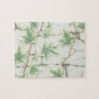 Ivy on a Dry Stone Wall in Pencil Jigsaw Puzzle