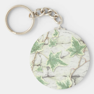 Ivy on a Dry Stone Wall in Pencil Key Ring Keychain