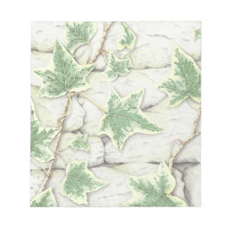 Ivy on a Dry Stone Wall in Pencil Notepad