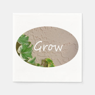 ivy on left word grow garden design neat nature standard cocktail napkin