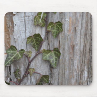 Ivy on Wood Mouse Pad