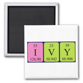 Ivy periodic table name magnet