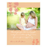 Ivy pink baby shower thank you card custom invite