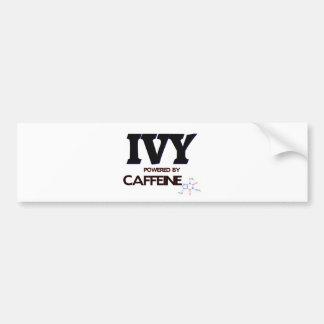 Ivy powered by caffeine car bumper sticker