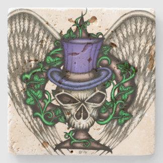 Ivy Spade Skull Coaster Stone Beverage Coaster