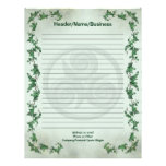 Ivy Triskel Lined Personalized Letterhead