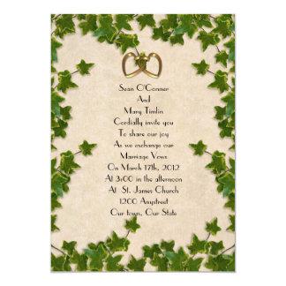 Ivy Wedding Invitation leaves