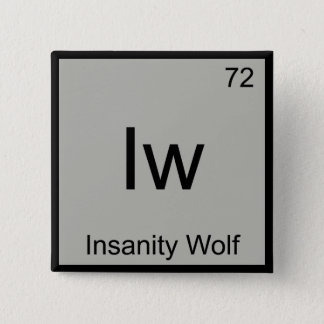 Iw - Insanity Wolf Chemistry Element Symbol Meme T Button