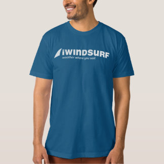 iW Men's 2-Sided Blue T-Shirt