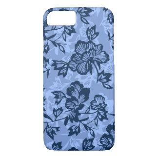 Iwalani Vintage Hawaiian Denim Blue Floral iPhone 7 Case