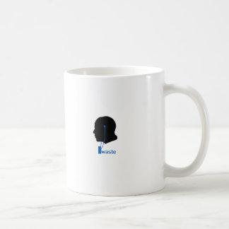 iwaste classic white coffee mug