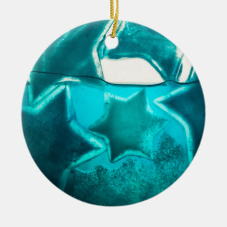 IWater stars Double-Sided Ceramic Round Christmas Ornament