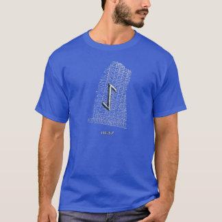 Iwaz rune symbol on west Rok runestone T-Shirt