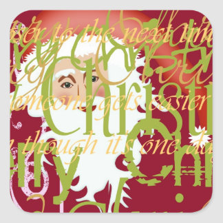 IWD Christmas Santa Sticker