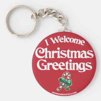 IWelcomeChristmasGreetings Key Chain