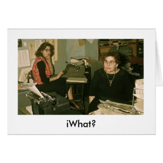 iWhat? iBirthday iCard Card