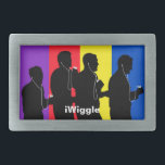 """iWiggle Belt Buckle<br><div class=""""desc"""">Belt buckle with silhouette of The Wiggles holding iPods.</div>"""