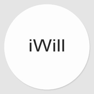 iWill Classic Round Sticker