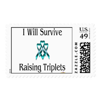 IWillSurviveRaisingTripletsBoyBoyBoy Postage Stamp