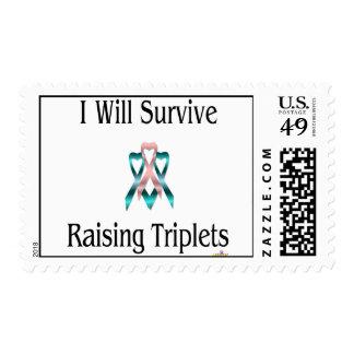 IWillSurviveRaisingTripletsBoyGirlBoy Stamps