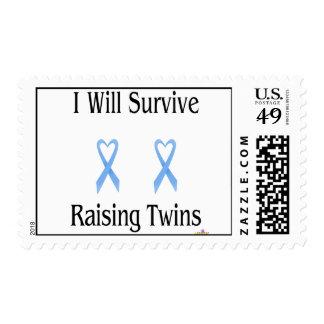 IWillSurviveRaisingTwinsBoyBoy2 Stamps