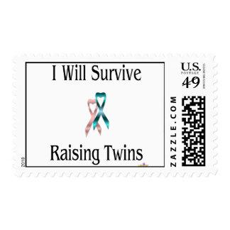 IWillSurviveRaisingTwinsGirlBoy Postage Stamp