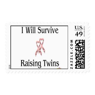 IWillSurviveRaisingTwinsGirlGirl Postage Stamps