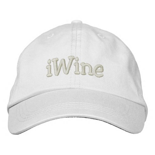 iWine Embroidered Baseball Hat