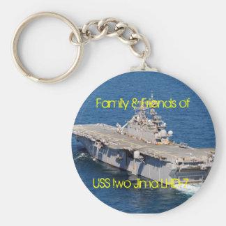 iwo, Family & Friends of, USS Iwo Jima LHD-7 Basic Round Button Keychain
