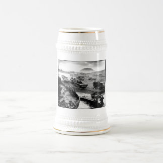 Iwo Jima Beach Painting Beer Stein