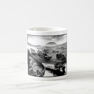 Iwo Jima Beach Painting Coffee Mug