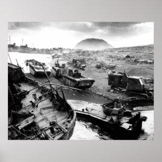 Iwo Jima Beach Painting print