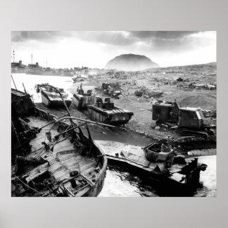 Iwo Jima Beach Posters
