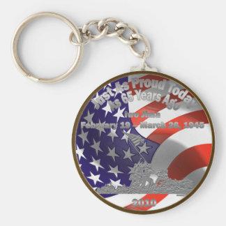 Iwo Jima Commemorative Coin Keychain
