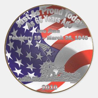 Iwo Jima Commemorative Coin Stickers