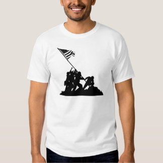 Iwo Jima Flag Raising Silhouette Shirt