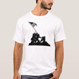 Iwo Jima Flag Raising Silhouette T-Shirt