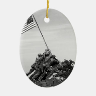 Iwo Jima Memorial Ceramic Ornament