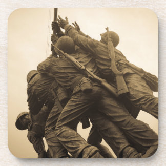 Iwo Jima Memorial in Washington DC Beverage Coaster