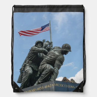 Iwo Jima Memorial in Washington DC Drawstring Backpack