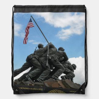 Iwo Jima Memorial in Washington DC Drawstring Bag