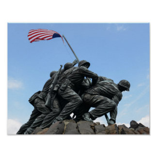Iwo Jima Memorial in Washington DC Poster