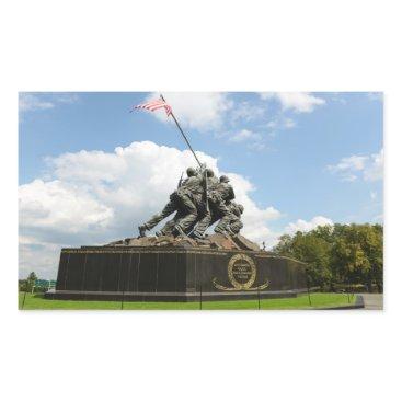 Iwo Jima Memorial in Washington DC Rectangular Sticker